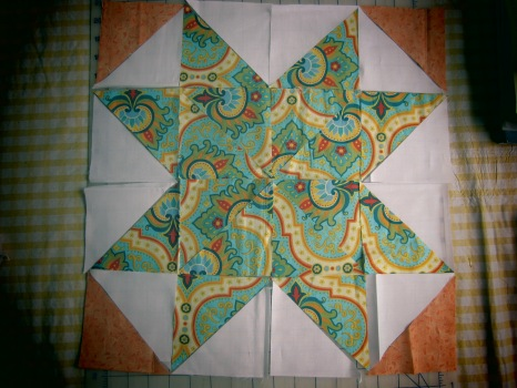 Quilted Duvet Cover, Star Block