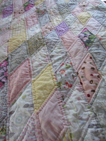 Pink Critters Quilt Top