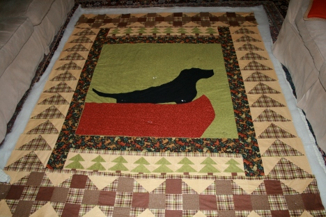 Auntie Kim's Black Dog Quilt