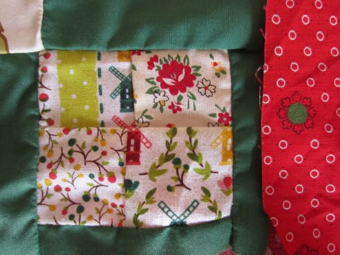 tiny patchwork squares by Gift Fox Quilts