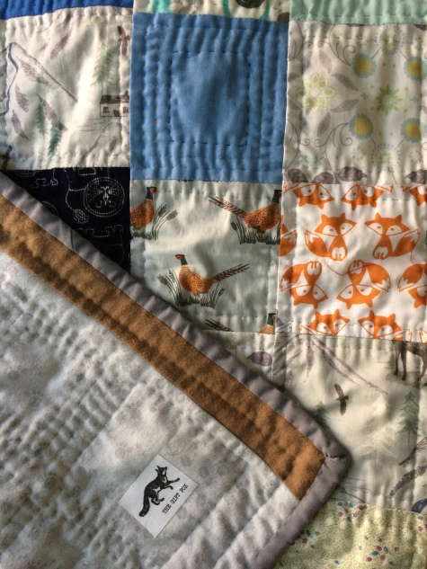 Gift Fox Quilts - woodsy baby quilt 1
