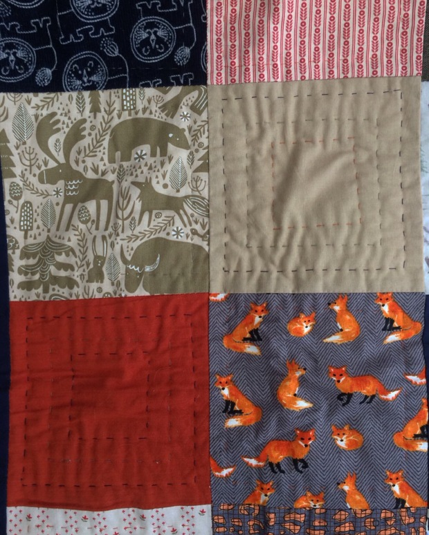 Patchwork Wilderness Baby Quilt - Gift Fox Quilts