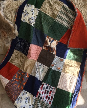 Patchwork Wilderness Baby Quilt - Gift Fox Quilts